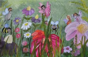 Kryp på blomsteräng
